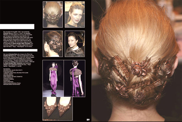 Chic Chignon, Scattered Antique Pins – 2009