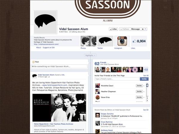 Vidal Sassoon  Alum Facebook Page