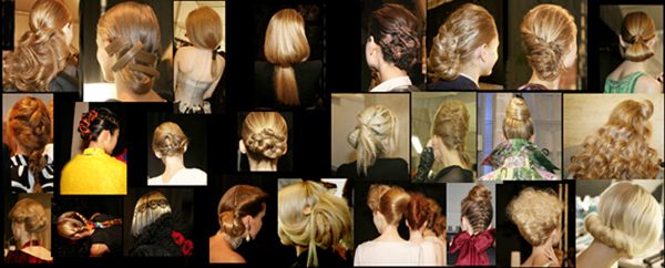 NY Fashion Week Hair Back Views - 2000s