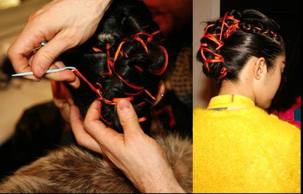 Messy Crocheted Hair NY Fashion Week - 2014