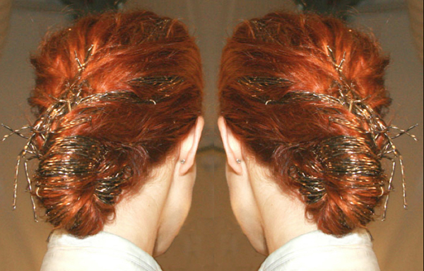 Chignon With Beads @ Carolina Herrera - 2010