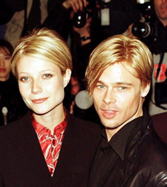 Gwyneth and Brad With the Same Hairstyle – 1997
