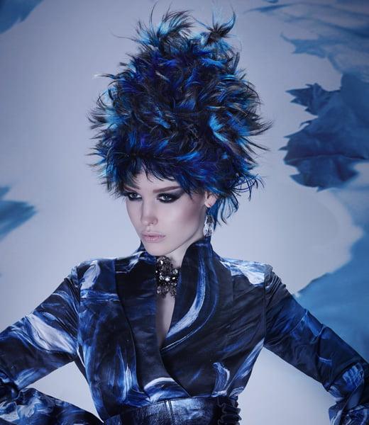 Hair Hat Stunner in Moody Blues - 2014