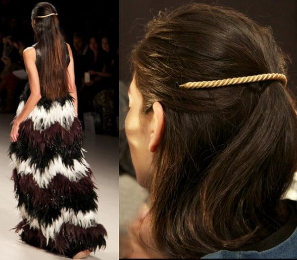 Cord Hair Accessory Dresses Up Long Hair - 2015