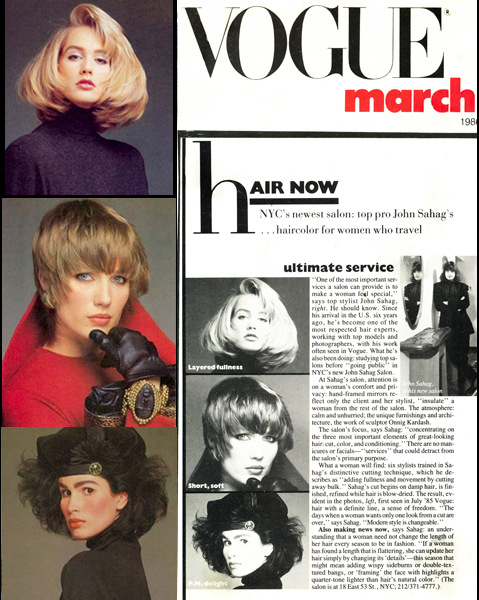 John Sahag Workshop Opening In Vogue – 1986