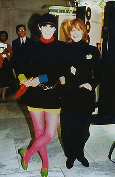 With Model Icon Peggy Moffitt - 1993