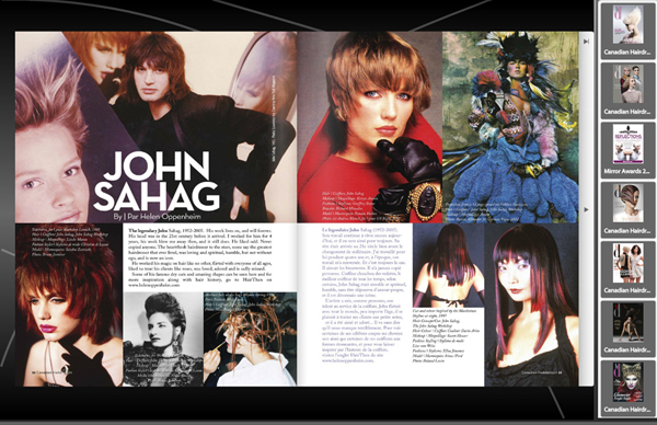 Sahag Tribute Canadian Hairdresser – 2015