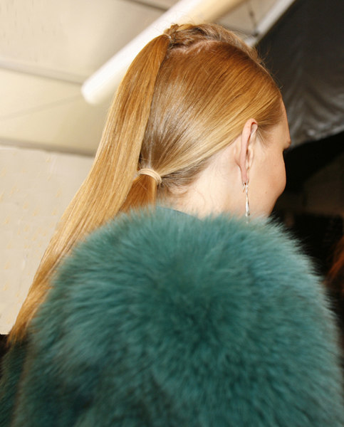 Ponytail With A Difference #NYFW Fall - 2015
