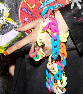 Neon Plastic Chains @ Libertine #NYFW Spring - 2016