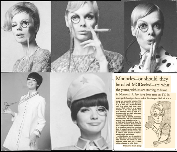 The Monocle Fashion Fad – '60s