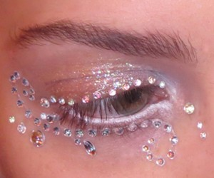 Eyes Decorated with Crystals Glitter – 2015