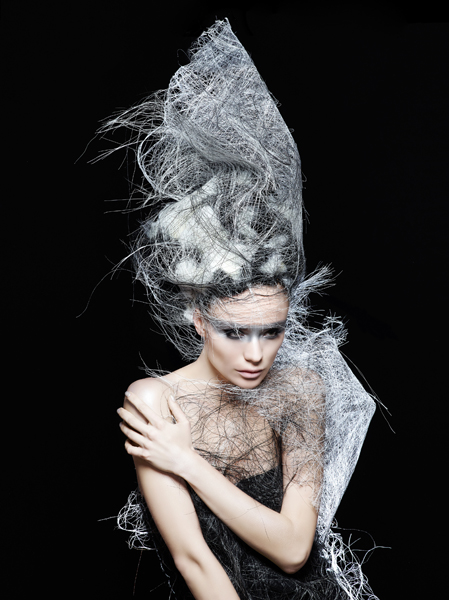 Avant-Garde Grey Hair Graphic Creation - 2015