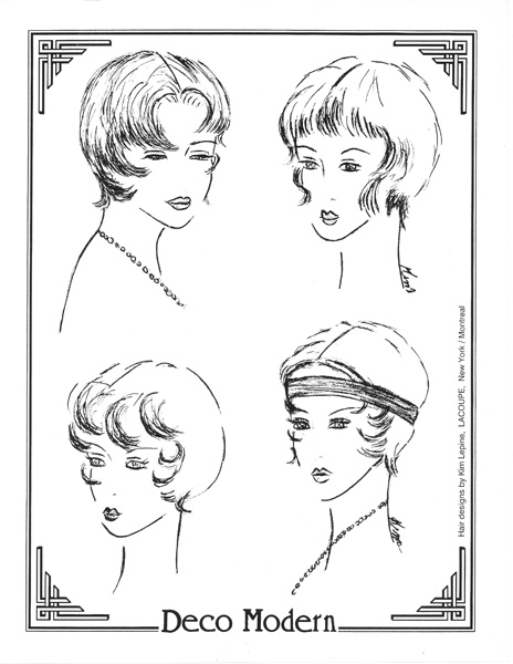 Four Ideas Deco Modern '20s Hair – 1992