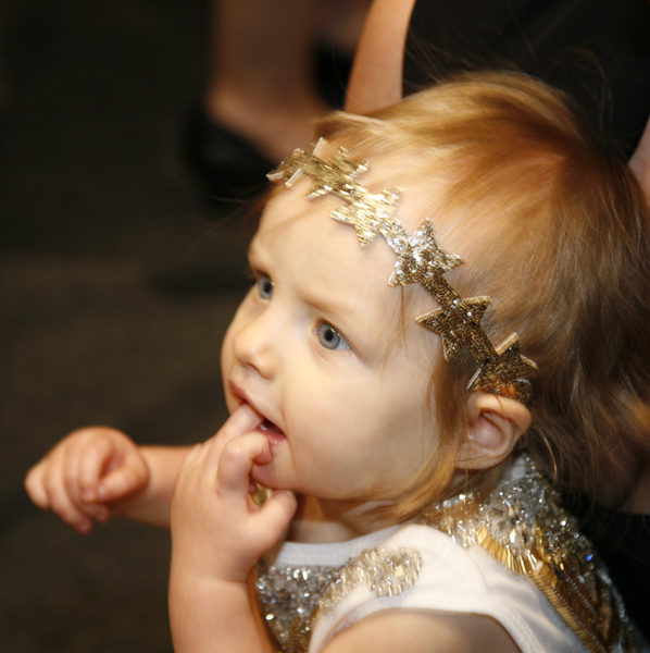 Backstage Baby With Headband @ NYFW – 2015