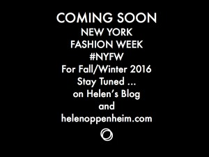 Coming Soon. NY Fashion Week, Fall - 2016