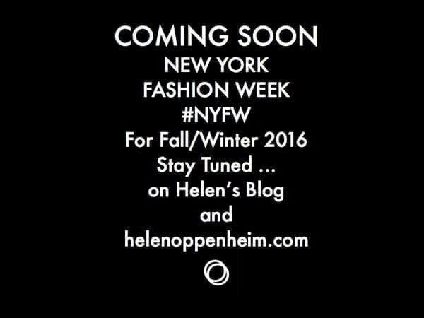 Coming Soon. NY Fashion Week, Fall - 2016