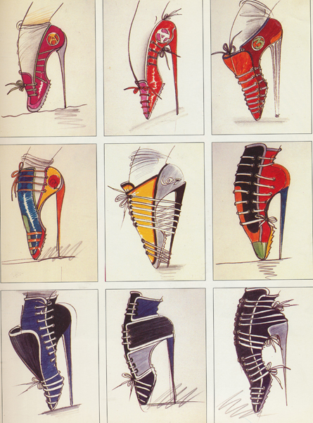 Antonio Lopez High-Heeled Sneakers – 1976