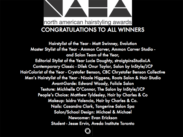 Congratulations to NAHA Winners - 2016
