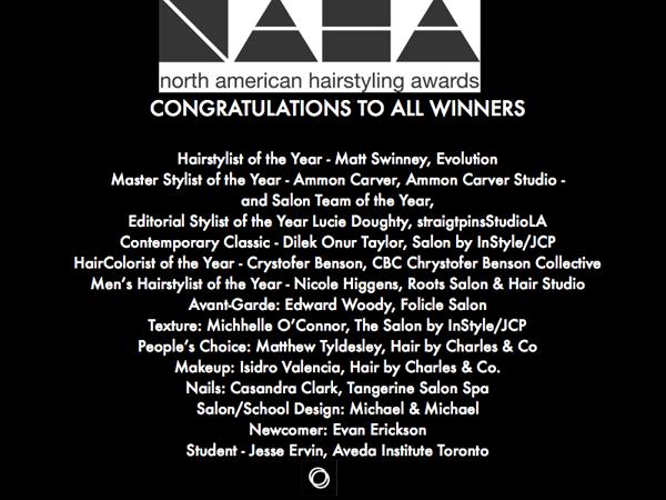 Congratulations to NAHA Winners - 2016