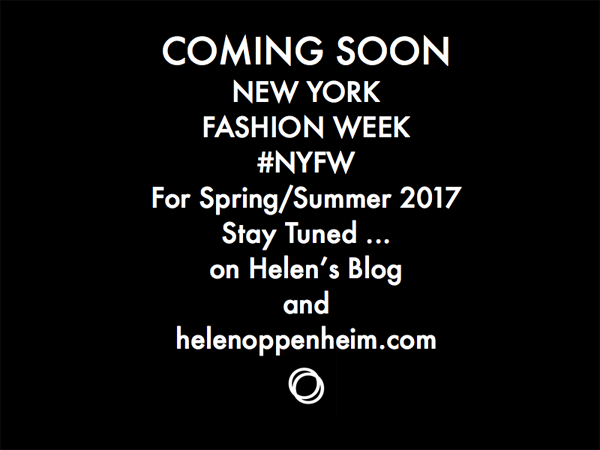 Coming Soon NY Fashion Week Spring – 2017