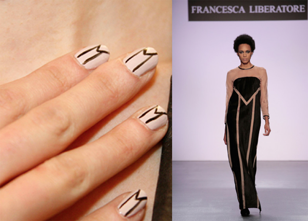 Dress and Nails The Same Design - 2016
