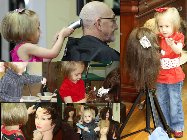 MIMI, THE 3 YEAR HAIRDRESSER! - 2012