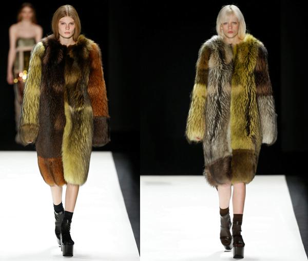 Vera Wang's Multicolored Fur Coats – 2016