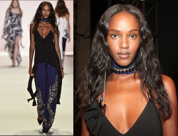 Long Earring, Choker, NYFW – 2017
