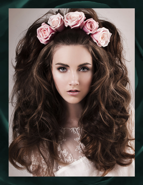 Crown of Romantic Roses for Bridal Head - 2013