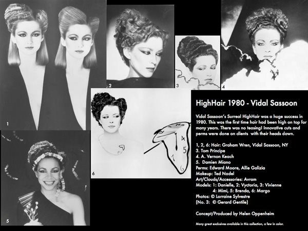 Vidal Sassoon HighHair Collage - 1980