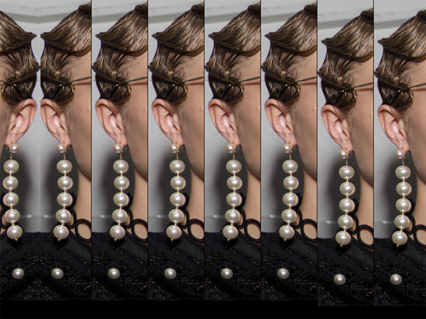 Very Long Pearl Earrings NYFW - 2017