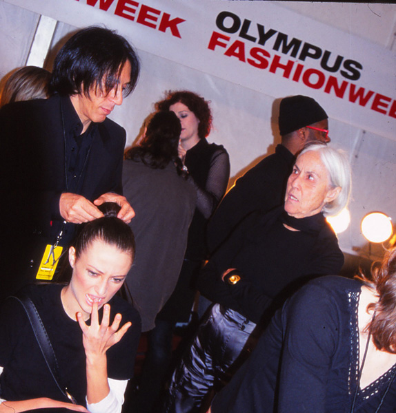 NYFW Backstage Hair Moment - 2004
