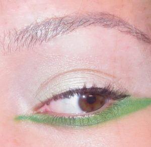 Slash of Mint Green Eye Makeup - 2017