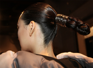 Strong Statement Chignon @AAU NYFW – 2018