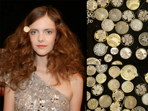 A Cascade Of Curls With Coin Jewelry NYFW – 2011