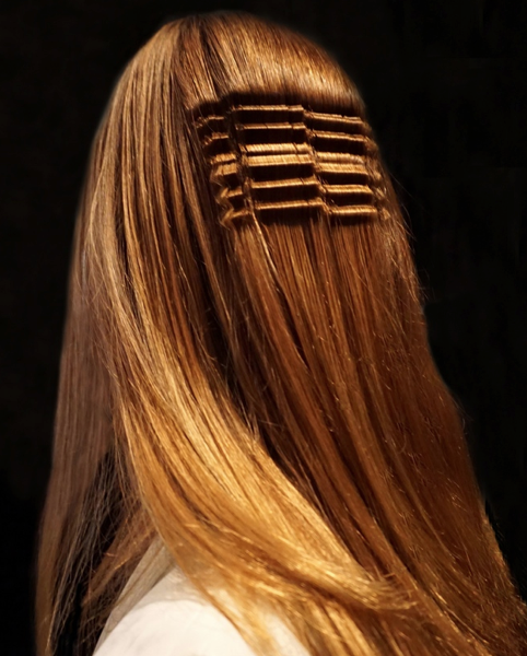 Interesting Crimping @ Juliana Bass NYFW – 2018