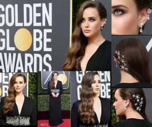 Katherine Langford Hair Star @ Golden Globes – 2018