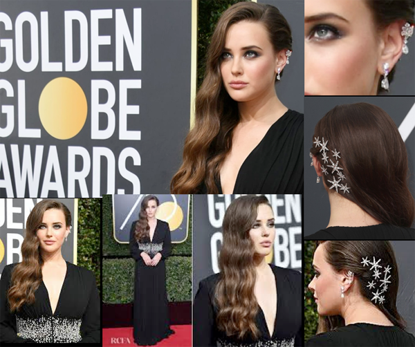 Katherine Langford Hair Star @ Golden Globes – 2018