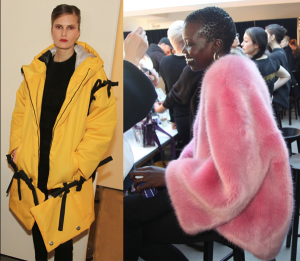 Top Coats Worn By Top Models backstage NYFW – 2018