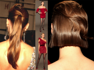 Draped Hair @ Badgley Mischka NYFW – 2019