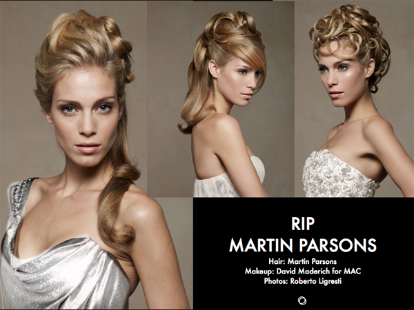 Martin Parsons Loved Hair Educator RIP - 2019