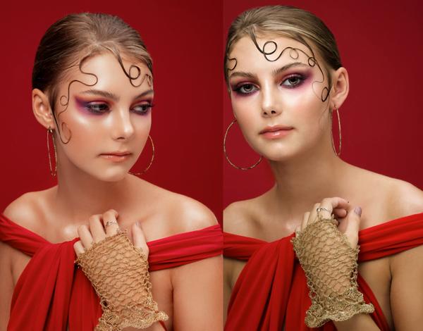 Inspo. Hair Design On Face - 2019