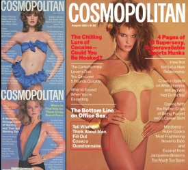 4  Cosmopolitan Covers by Harry King, 1978 - 1985