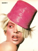 29  US Vogue Hat Cindy Crawford Blonde - 1987