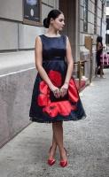 34  Girl Black Dress Red Flower - Spring 2016