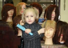 14    Three Year Old Future Hairdresser