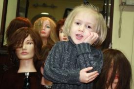 13    Three Year Old Future Hairdresser