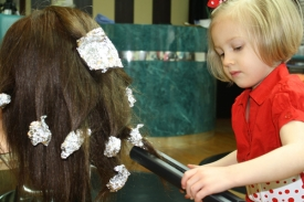11   Three Year Old Future Hairdresser