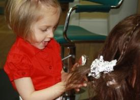10   Three Year Old Future Hairdresser