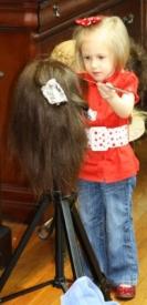 9   Three Year Old Future Hairdresser